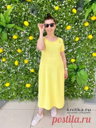 Платье спицами Лимонное настроение, Вязание для женщин