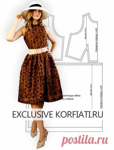 Выкройка платья с пышной юбкой от Анастасии Корфиати