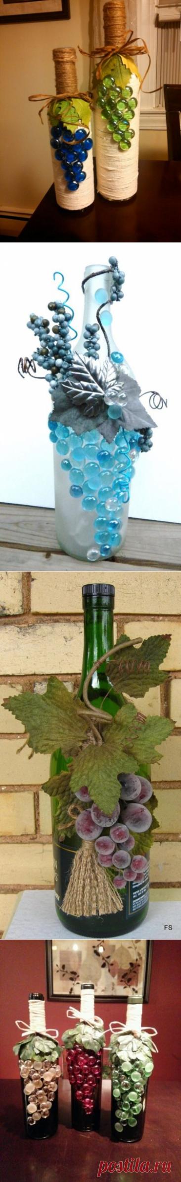 Оформление бутылки вина — Сделай сам, идеи для творчества - DIY Ideas