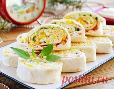 Готовимся к празднику – крабовый салат в лаваше