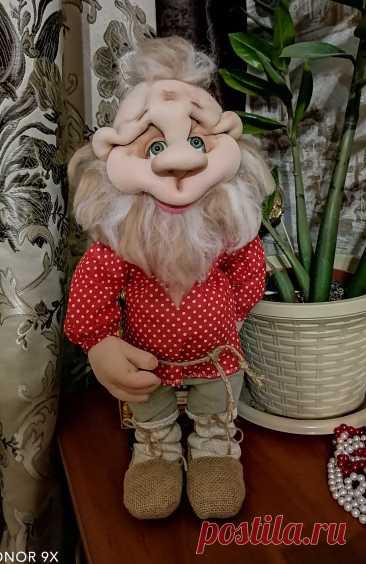 Дедушка домовой. Кукла из капрона
