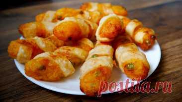 Когда в холодильнике нет практически ничего, а надо приготовить что-нибудь «эдакое» — готовлю картофельные колбаски | Кухня без границ Елены Танько | Яндекс Дзен