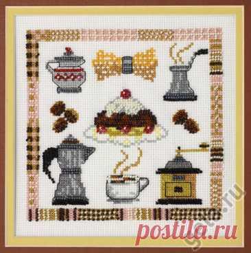 Кофе (арт. 13.003.04 Марья Искусница) набор для вышивания крестом купить в Stitch и Крестик