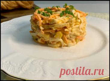 """Свекровь научила готовить """"вкуснючий"""" салат за 5 минут: главный ингредиент сыр-косичка"""