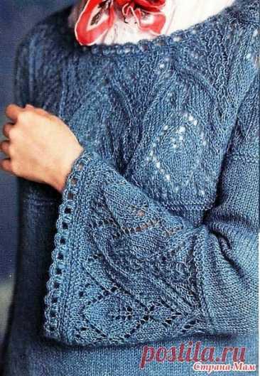 Ажурный пуловер Round Yoke Knit