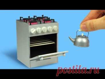 Мини кухонная плита для куклы своими руками