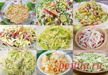 Салаты из свежей капусты - 17 простых и вкусных рецептов Сегодня готовлю восхитительные салаты из свежей капусты. Витаминные, легкие в приготовлении и конечно же вкусные! Целых простых и вкусных 18 рецептов