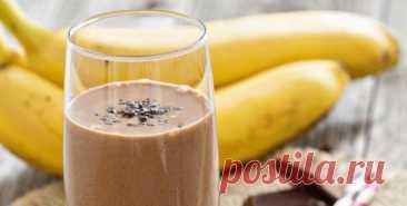 Шоколадно-банановый коктейль