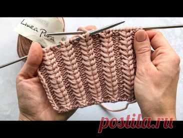 Супер классный узор колоски спицами для шапок, снудов, кардиганов, свитеров. Очень простой узор!