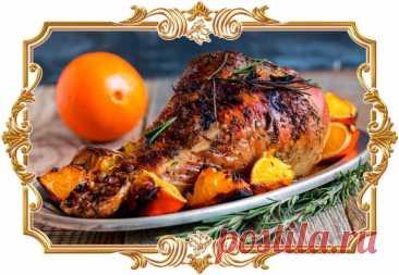 #Запечённая #голень #индейки #с #апельсином (#рецепт #на #день #8 #Марта и не только)  #Сочное #мясо с аппетитной золотистой корочкой в пряном кисло-сладком маринаде — идеальный выбор для праздничного ужина.  Время приготовления: Показать полностью...