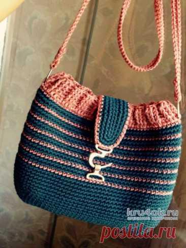 Женская молодежная сумочка крючком. Работа Аксиньи Григ