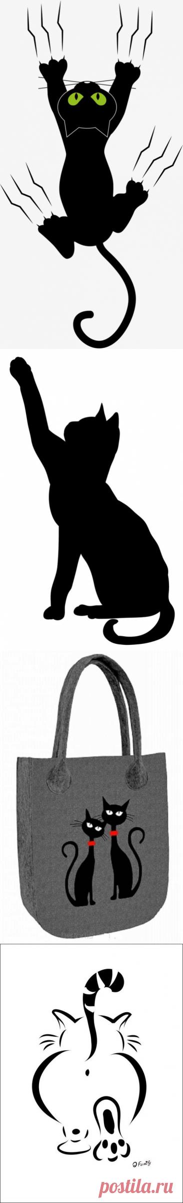 Коты, кошки, котята - вся эта красота может поселиться в виде рисунка или аппликации на Вашей сумке!