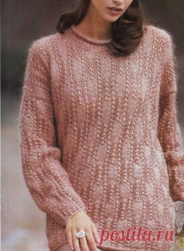 Пуловер спицами для женщин - Вязание спицами для женщин - Каталог файлов - Вязание для детей