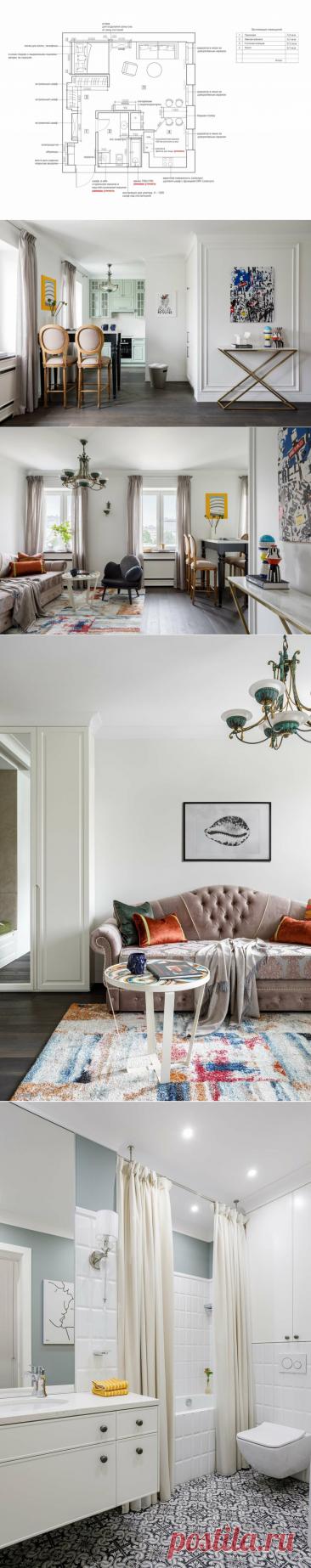 Изящный интерьер в скромной однушке в старом доме. Так стильно и современно получилось. | INMYROOM.RU | Яндекс Дзен