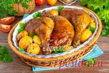 Окорочка с картошкой в духовке пошаговый рецепт