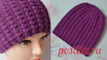 Шапка крючком. Новый узор. Мастер класс.  Hat crochet pattern Подробный мастер класс по вязанию шапки крючком, можно связать на любой размер. Размерная таблица - https://vk.cc/aCtbiNПодписывайтесь на мой канал, чтобы не...