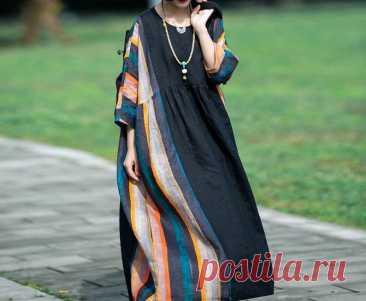 Linen maxi dress cocktail dresses oversized dress plus size | Etsy