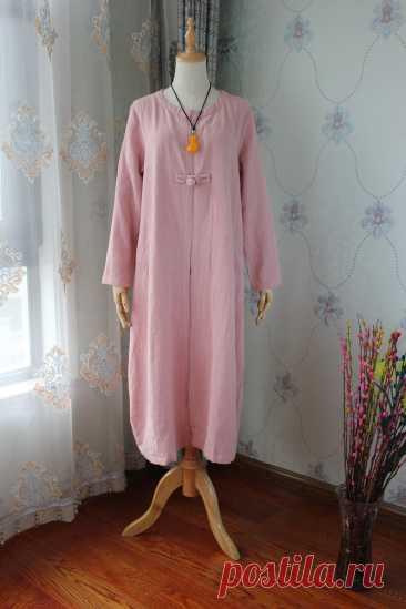 Linen midi shirt Longsleeve shirt Spring thin coat Womens   Etsy
