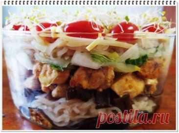 Очень красивый и вкусный слоеный салат по-китайски   Другая Кухня /Дневник фудблогера   Яндекс Дзен
