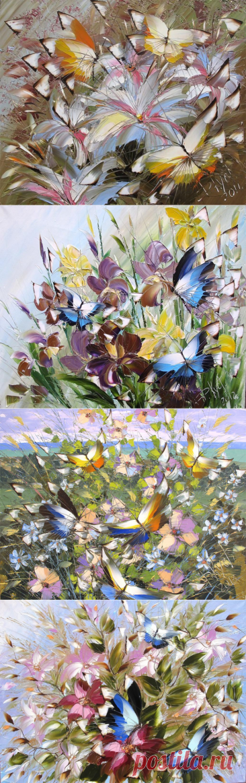 Цветы и бабочки Дмитрия Кустановича