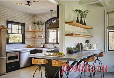 Отличная кухня с бетонной столешницей