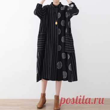 Black linen midi dress Shirt collar dress Linen button down | Etsy