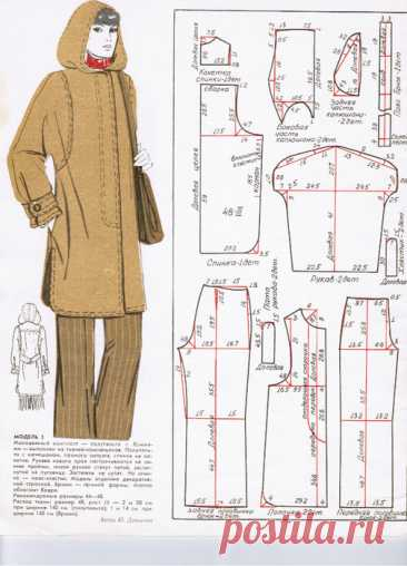 El patrón del abrigo invernal con la capucha