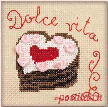 Сердечко. Dolce vita арт.1253 Риолис купить в Stitch и Крестик