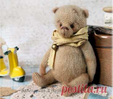 Мастер-класс по вязанию крючком медведя по имени Савелий   Be Creative   Пульс Mail.ru Схема вязания мишки крючком с подвижными лапками и головой