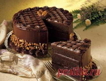 """Шикарный торт """"Черная магия"""" на кефире с кофе"""