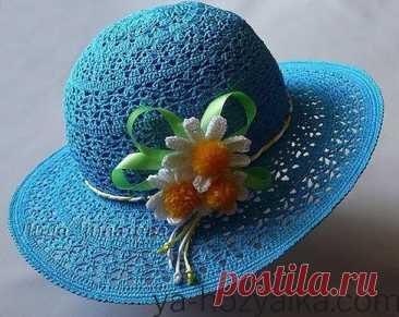 Шляпка с полями крючком схемы. Летние шляпки связанные крючком с цветами