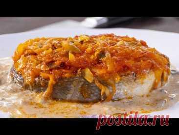 Треска под маринадом с соусом из белых грибов. Огонь!!! Я сделал рыбу под маринадом совсем по-другому и теперь она просто огонь!!!
