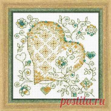 Золотое сердце арт.1353 Риолис купить в Stitch и Крестик