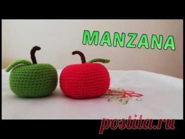 Manzana hecha a crochet