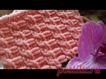 Необычайно красивый декоративный узор спицами 🙋♀️ knitting pattern. - YouTube