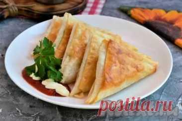Треугольники из лаваша с колбасой и сыром - Наш уютный дом - медиаплатформа МирТесен