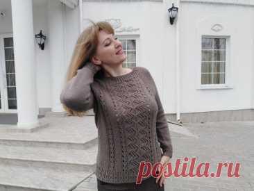 """Базовый джемпер """"Зигзаг Удачи"""" Попетельный #мастеркласс #реглансверху #азиатскийросток #knitting"""