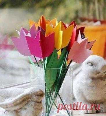 Тюльпаны из картона своими руками. Мастер-класс