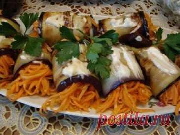 Вкуснющие баклажаны с корейской морковкой – пальчики оближешь!