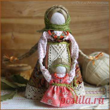 Rag dolls of the Master Olga Mironova with MK of a national doll of Veduchk