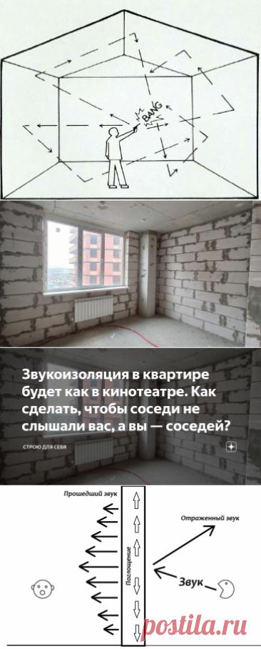 Звукоизоляция в квартире будет как в кинотеатре. Как сделать, чтобы соседи не слышали вас, а вы — соседей?   Строю для себя   Яндекс Дзен
