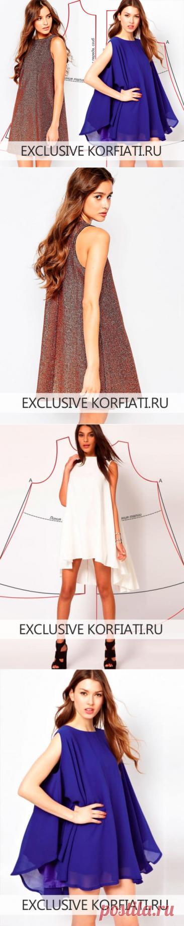 Pattern of a free dress from A. Korfiatya