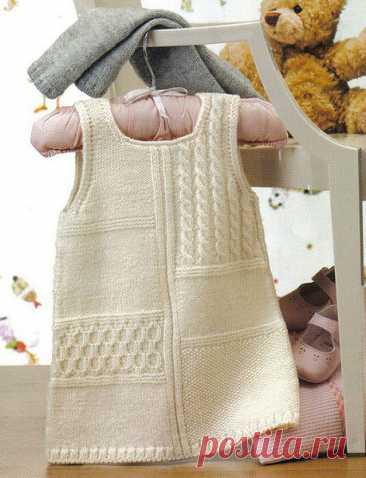 Платье для девочки на 3 (6) месяцев - вязание спицами - Портал рукоделия и моды