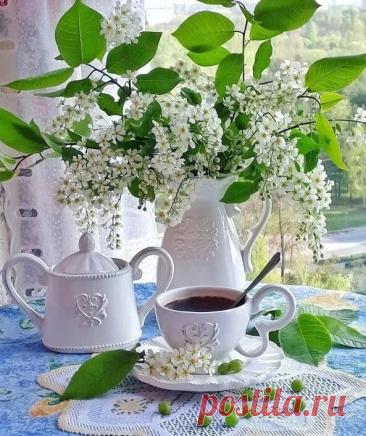 ༺🌸༻А утро начинается с надежды, Что будет день уютный, добрый, нежный.