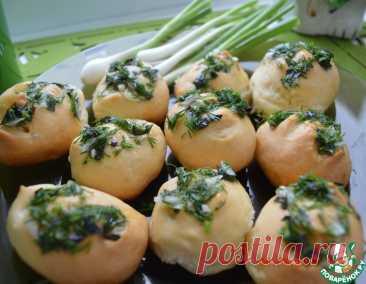 Пампушки с чесноком и зеленью к борщу – кулинарный рецепт