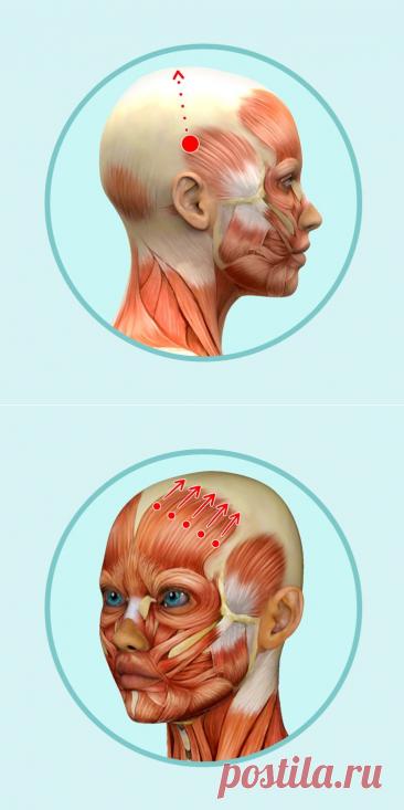 6 простых движений для массажа головы, который поможет избавиться от морщин | Болтай
