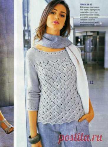 Джемпер женский спицами, 19 моделей с описание и видеоуроками, Вязание для женщин