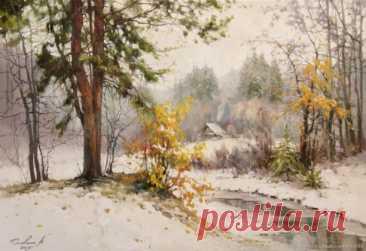 ღХудожник Наталья Головина.  Выпал снег на Покров.