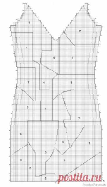 Цветной сарафан с абстрактным рисунком спицами | Вязание для женщин спицами. Схемы вязания спицами