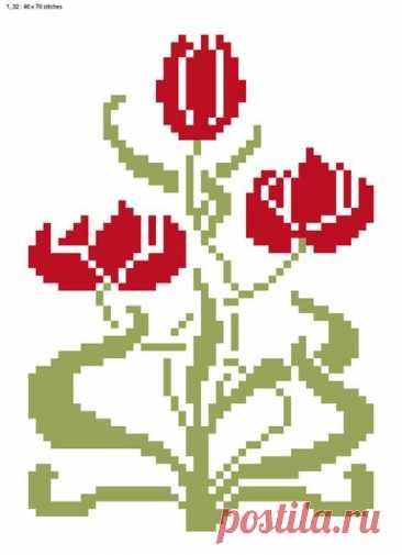Возможно, эти цветочные схемы помогут Вам в создании шедевра. Спасибо, что присоединились - https://vk.com/zolotoe_runo777